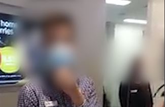 Article image for 'Anti-masker' creates scene in Perth bank
