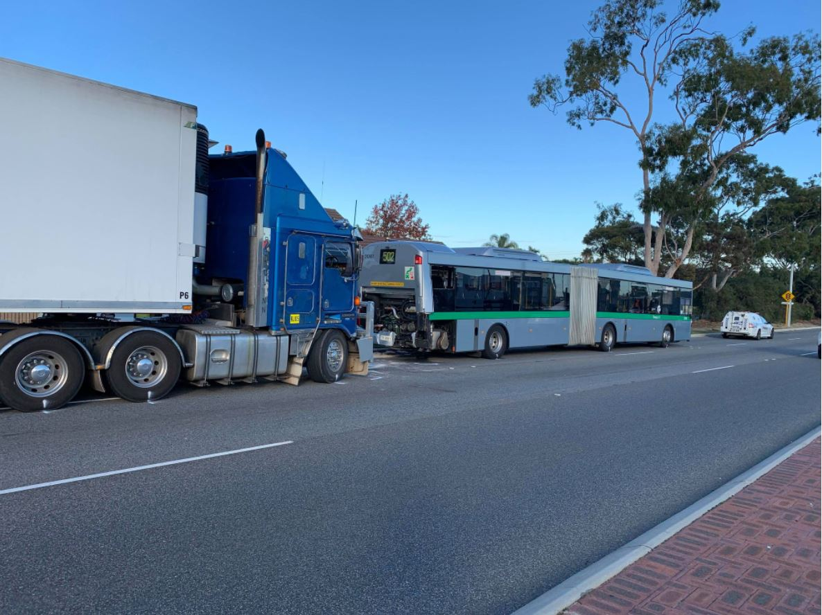 Article image for School children involved in bus crash in Perth's south