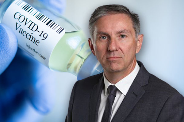 Article image for Gary Adshead takes aim at leaders 'shameful' AstraZeneca mixed messaging
