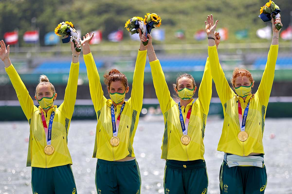 Article image for Gold medal makes WA rowing history