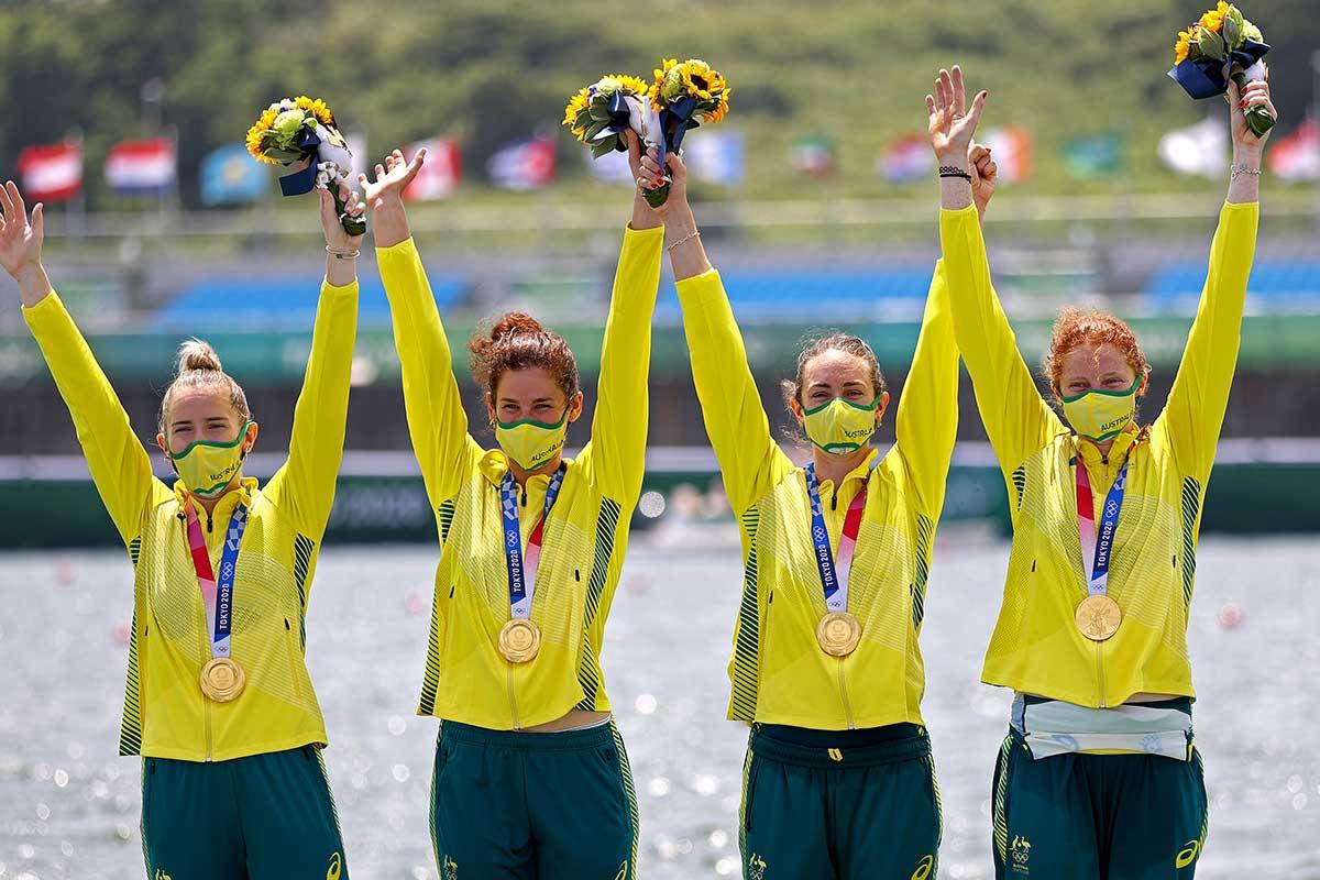 Gold medal makes WA rowing history