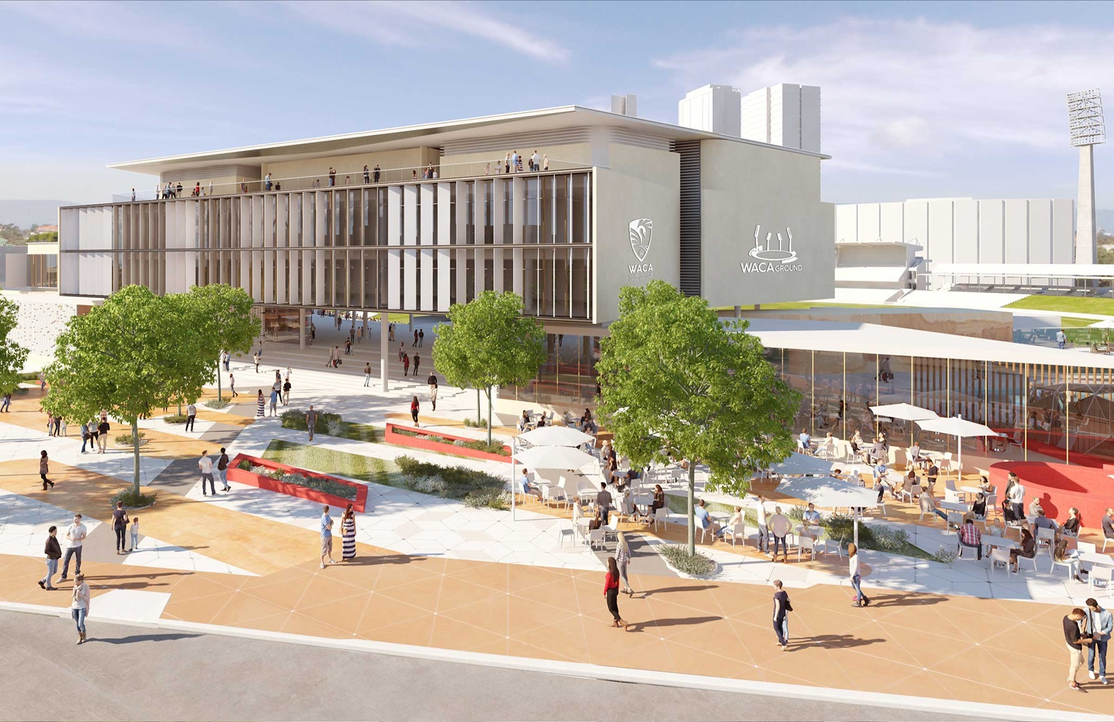 Article image for 'There will be a pool': Construction on WACA begins