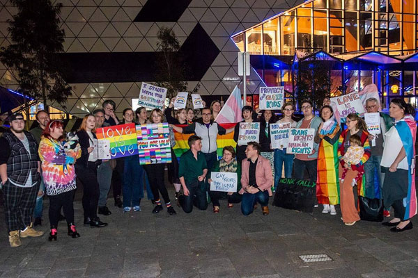 Article image for 'We are falling behind': Protestors demand urgent reform on gay conversion therapy