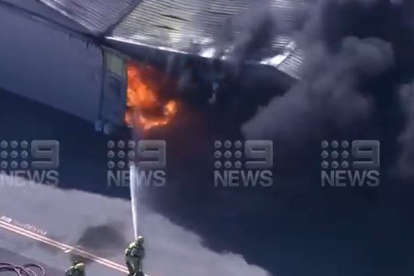 Article image for Emergency crews work to contain Jandakot Airport blaze