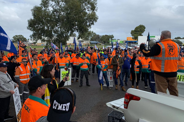 Article image for Truck driver strike: Thousands of workers walk off the job
