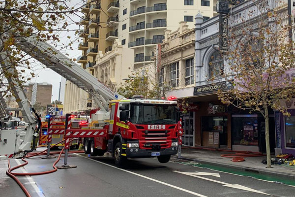 Article image for Person rushed to hospital after Perth adult store blaze