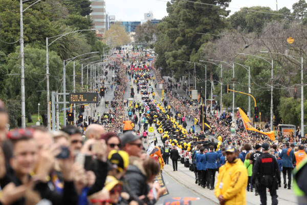 Article image for 'A bit unusual': Anti-terrorism expert questions AFL's decision to ditch Grand Final parade on security concerns