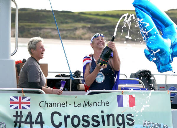 Article image for Aussie Chloë McCardel swims the English Channel for a world-record 44th time