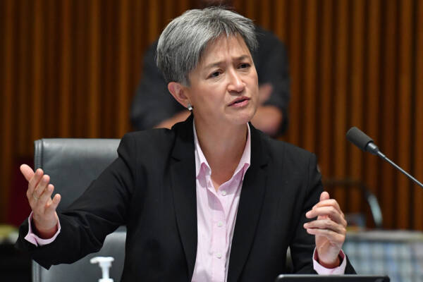 Article image for Penny Wong says a resolution of differences between China and Taiwan must be achieved peacefully